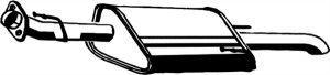 Fotografia produktu ASMET 05.162 A tłumik tylny końcowy Opel Astra G 1.4_1.6i -8_16V kombi 98-04(zawijany) Nr. OE -  5852052, 5852053, 5852054/  Nr. Bosal -185-441, 185-443, 185-551